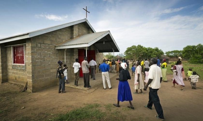 Igreja no Sudão. (Foto: Bolsa do Samaritano)