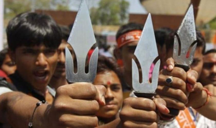 Extremistas hindus. (Foto: Asia News)