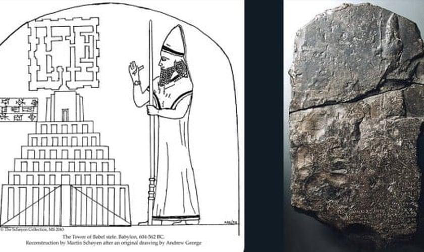 Tabuleta registra a ilustração de uma grande construção que remonta à Torre de Babel. (Foto: Martin Schoyen/Schoyen Collection)