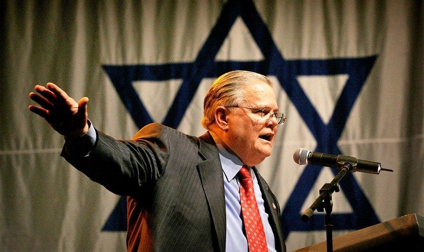 John Hagee é líder do ministério Cornerstone, no Texas e é um dos grandes apoiadores de Israel nos EUA. (Foto: APCNEWS)