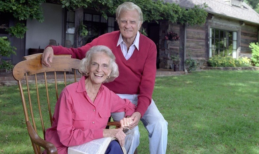 Ruth Graham (esquerda) e Billy Graham (direita). (Foto: BGEA)