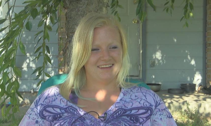 Kaylean Johnson ficou sozinha na mata por oito dias sem comida ou abrigo. (Foto: KOMO News)