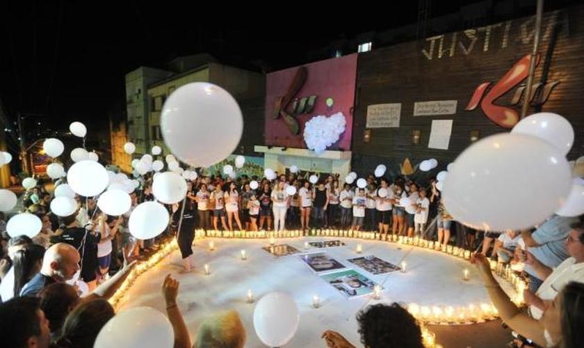 Famílias prestam homenagens às vítimas da Boate Kiss, em Santa Maria (RS)