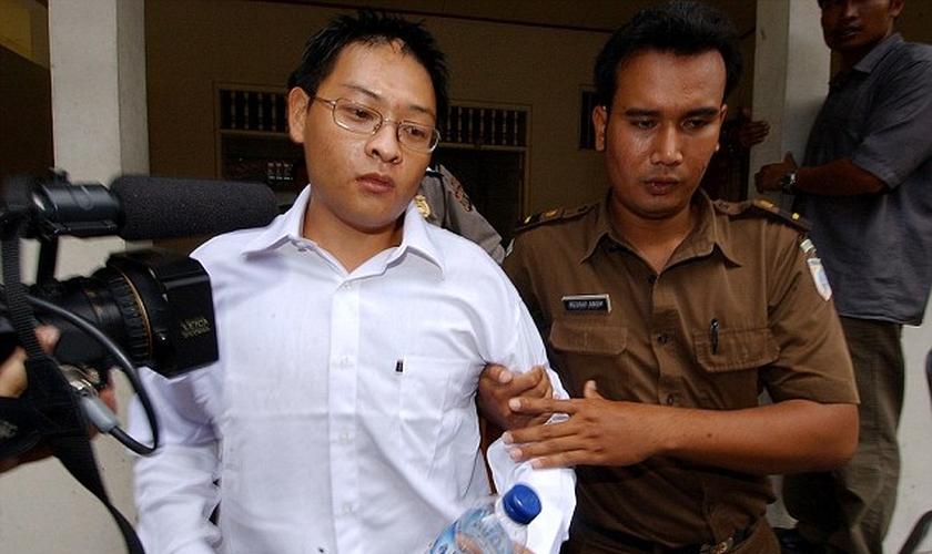 """Andrew Chan integrava a rede de narco-tráfico chamada """"Os Nove de Bali"""" e converteu-se ao protestantismo tempos após ser detido sob a acusação de comércio ilegal de entorpecentes."""