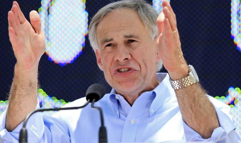Greg Abbot é governador do Texas, cristão e se declarou um defensor da liberdade religiosa