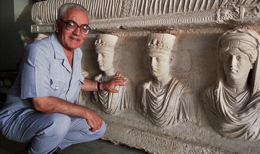 Khaled al-Asaad trabalhou por mais de 50 anos como chefe de antiguidades em Palmyra, foi executado pelo Estado islâmico na última terça-feira. (Foto: Marc Deville/Gamma-Rapho via Getty Images)