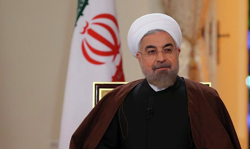 Presidente do Irã, Hassan Rohani.