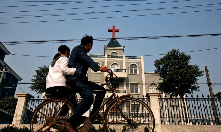 A Igreja Wanmin Zhongfu, localizada na cidade de Dongguan, em Guangdong, foi forçada a mudar de endereço. (Foto: Reuters/ Lang Lang)