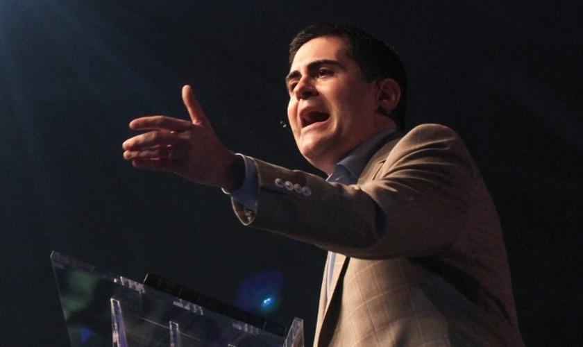 Russell Moore palestra na Conferência de pastores da SBC no Centro de Convenções Greater Columbus em Columbus, Ohio em 14 de junho. Foto: Adam Covington