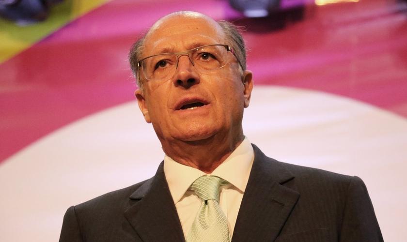 Segundo o governador do estado de São Paulo, Geraldo Alckmin, a administração pública apoia as ações da igreja. (Foto: Guiame/ Marcos Paulo Corrêa)