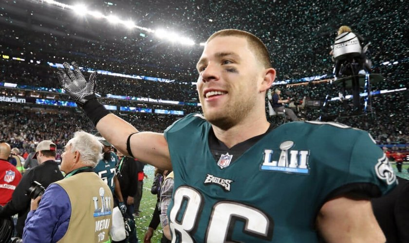 Zach Ertz atua como tight end no time campeão do Super Bowl, Philadelphia Eagles. (Foto: Matthew Emmons/USA Today Sports)