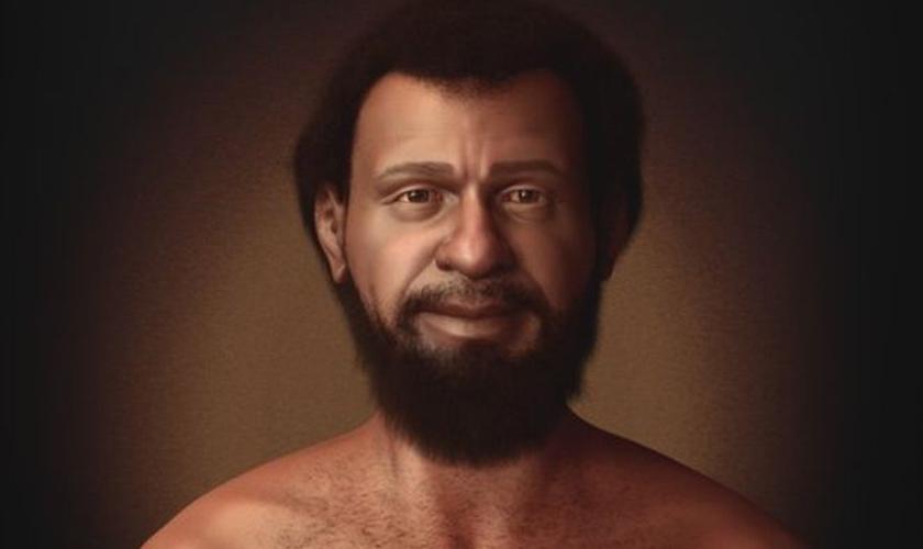 Possível aparência de Jesus desenvolvida pelo designer gráfico Cícero Moraes, especialista em reconstituição facial forense. (Foto: Cícero Moraes/BBC Brasil)