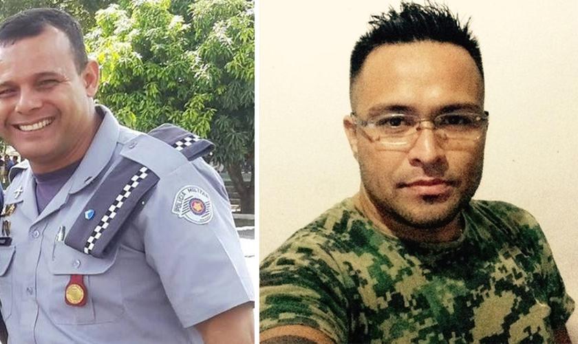 O sargento da Polícia Militar, Toni de Ramos Costa e o segurança Adriano Shimabukuro. (Foto: Arquivo pessoal)