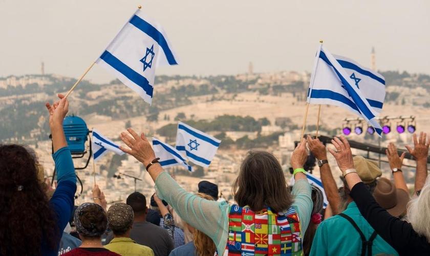 A campanha do 'Dia de Oração pela Paz em Jerusalém' contou com o apoio de cerca de 90 milhões de cristãos em 170 países. (Foto: CBN News)