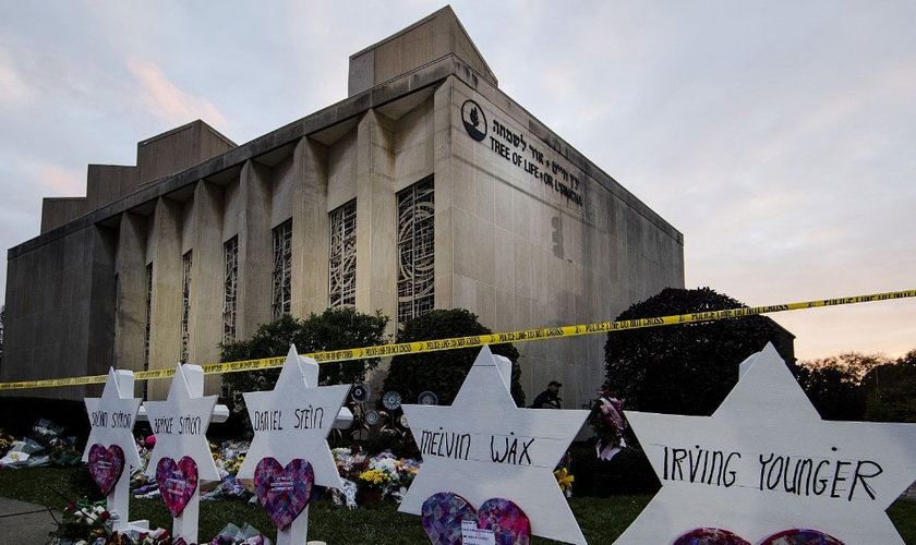 Sinagoga Árvore da Vida: ataque mortal antissemita nos Estados Unidos. (Foto: Divulgação/Simon Wiesenthal Center)