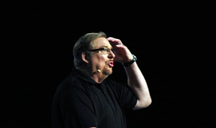 Rick Warren, pastor da Saddleback Church em Lake Forest, Califórnia, durante Conferência de Pastores. (Foto: Sonny Hong /The Christian Post)