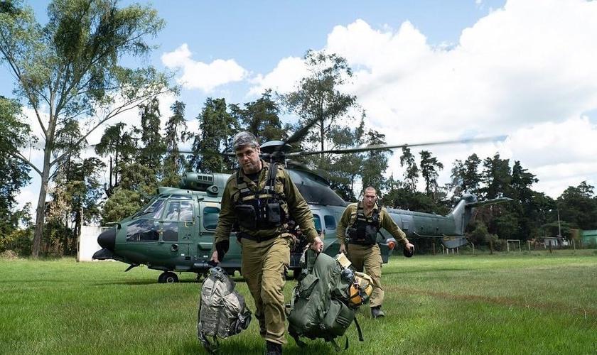 Exército de Israel em seu primeiro dia no Brasil. (Foto: IDF)