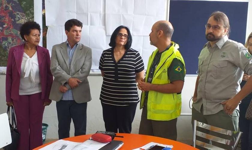 Ministra da Mulher, Damares Alves, visita Prefeitura de Brumadinho. (Foto: Divulgação/Prefeitura Municipal de Brumadinho)