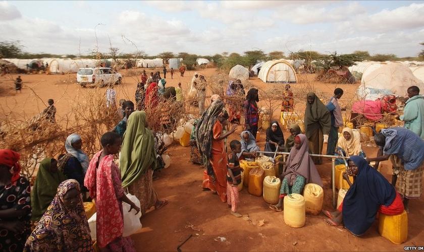 Campo de refugiados de Ifo em Dadaab, Quênia. (Foto: Reprodução/Getty)