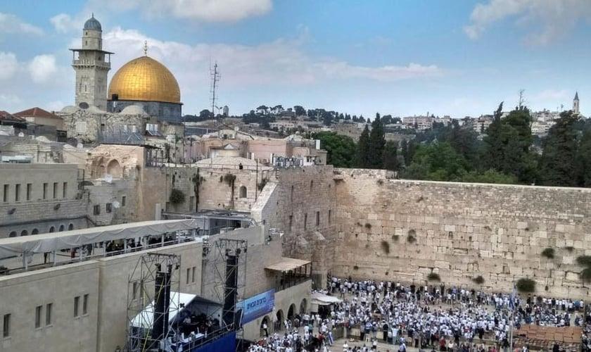 Monte do templo, em Jerusalém. (Foto: Reprodução/GTV)