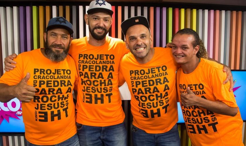 Betão, Ricardo Araújo, Pastor Rica e Bruno dos Santos foram os convidados do Pânico. (Foto: Jovem Pan)