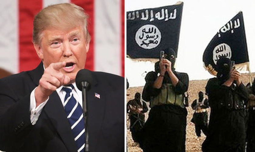 Em comunicado, Trump anunciou fim do Estado Islâmico na Síria; divulgação foi feita no sábado (23) pela Casa Branca. (Foto: Divulgação/RM)