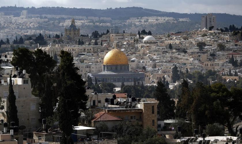Vista geral de Jerusalém. (Foto: Thomas Coex/AFP)