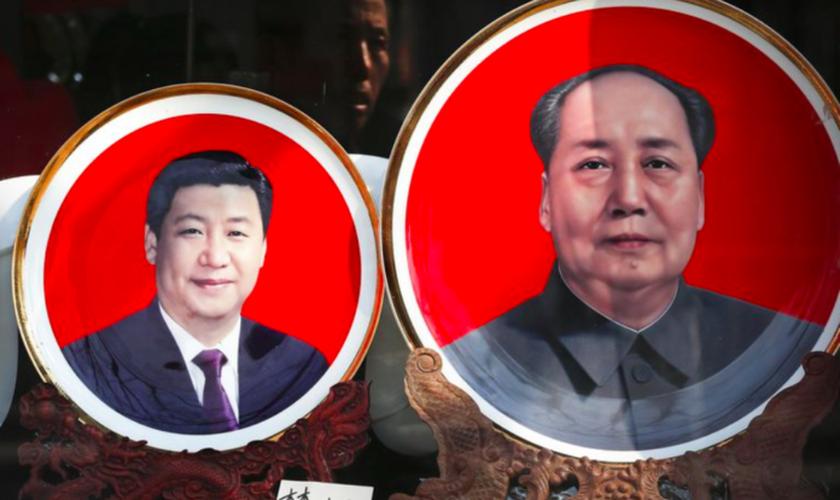 O presidente chinês Xi Jinping e o ex-presidente Mao Tse-Tung: muito em comum. (Foto: Reprodução/AP)