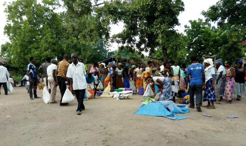 Ajuda financeira feita por brasileiros beneficia aldeia de Hatone, no Malawi. (Foto: Missão Mãos Estendidas)