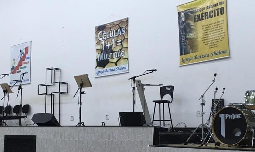 Imagem do interior da igreja evangélica em Paracatu. (Foto: Ailton Pinheiro/Arquivo pessoal)