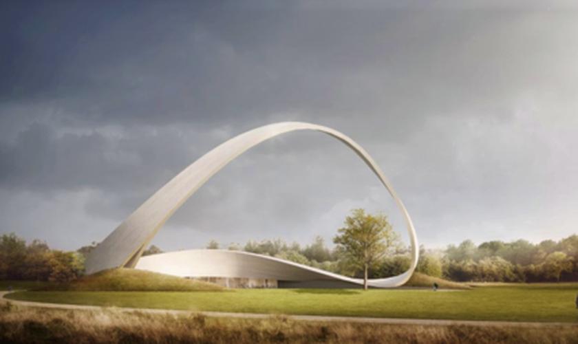 Maquete aprovada do Muro das Orações Respondias, que será inaugurado em 2022 na cidade inglesa de Birmingham. (Foto: Reprodução/Premier)