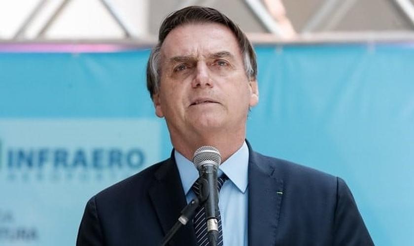 Presidente Jair Bolsonaro participa de evento da Assembleia de Deus em Goiânia. (Foto: Reprodução/Alan Santos)