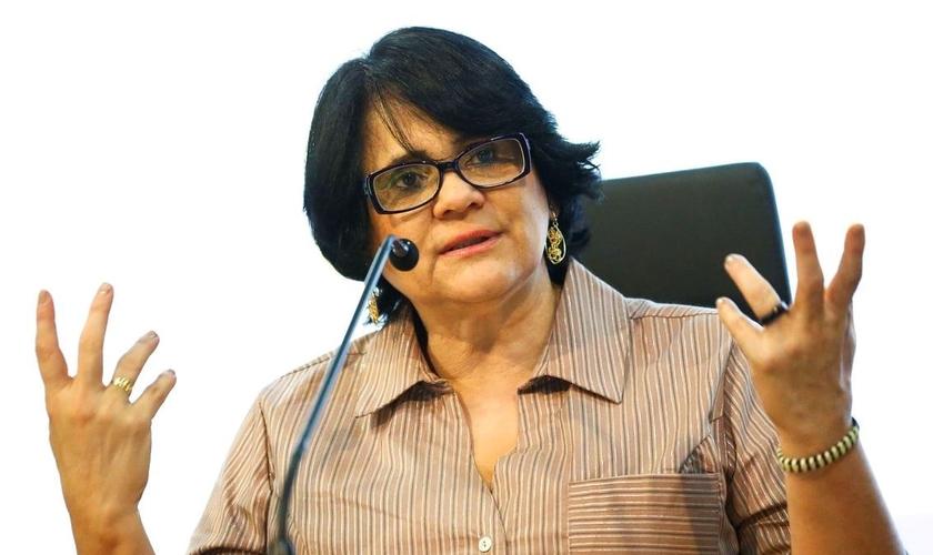 Ministra Damares Alves em defesa dos cristãos perseguidos. (Foto Marcelo Camargo/Agência Brasil)