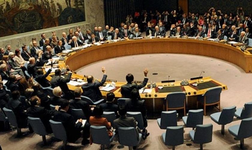 Plenário da ONU em votação. (Foto: Reprodução/Reuters)
