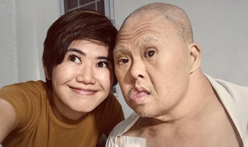 Richie Anne Castillo e seu pai Richard Castillo, que tem Síndrome de Down. (Foto: Reprodução/Facebook)