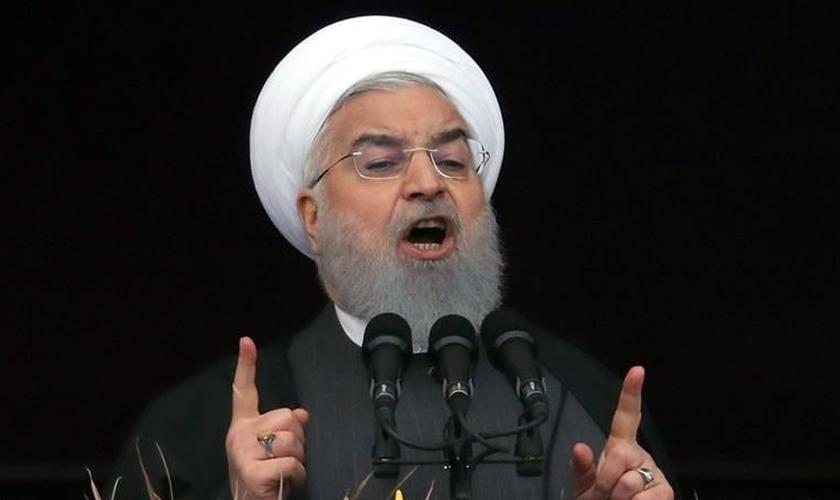 Hassan Rouhani clérigo e presidente do Irã desde 2013. (Foto: Abdein Taherkenareh/EPA)