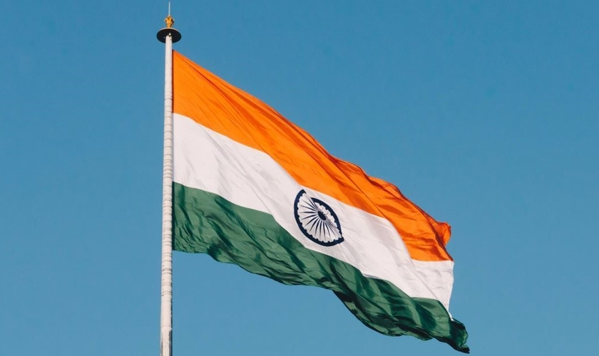 Bandeira da Índia. (Foto: Naveed Ahmed/Unsplash)