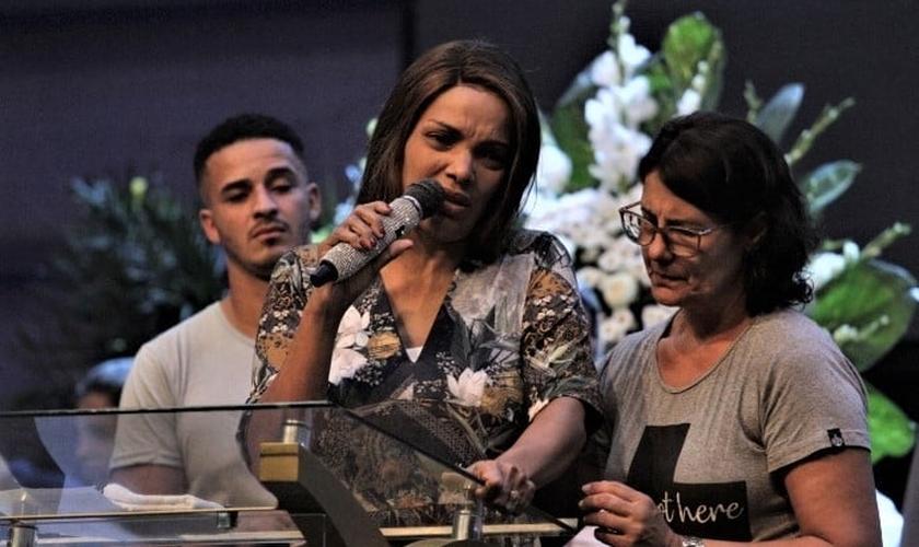 Velório do pastor Anderson do Carmo, marido da cantora gospel e deputada Flordelis. (Foto: Cléber Mendes/Agência O Dia)
