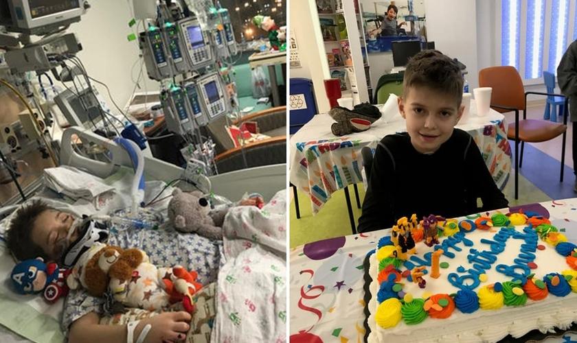 Brenden Scott passou um mês no hospital depois de ser atropelado em dezembro; hoje o menino está de volta recuperado. (Foto: Jennifer Scott)