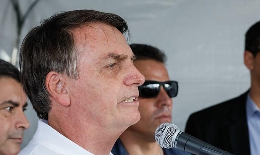 Bolsonaro durante participação na Marcha para Jesus 2019, em São Paulo. (Foto: Isac Nóbrega/PR)