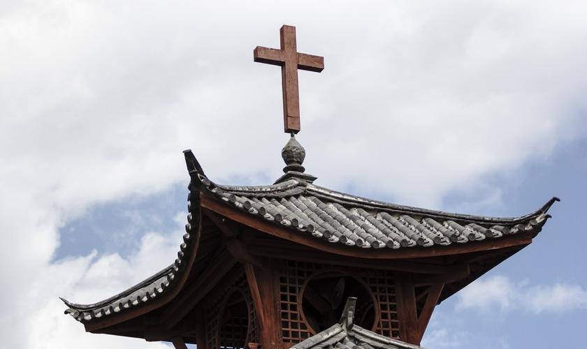 Telhado de igreja cristã chinesa. (Foto: Shutterstock)