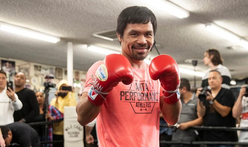 O boxeador filipino Manny Pacquiao é dono de 11 títulos mundiais. (Foto: Esther Lin/Showtime)