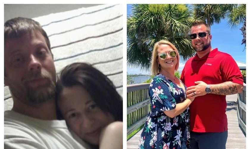 Brent e Ashley Walker antes e depois da libertação das drogas. (Foto: Reprodução/Facebook)