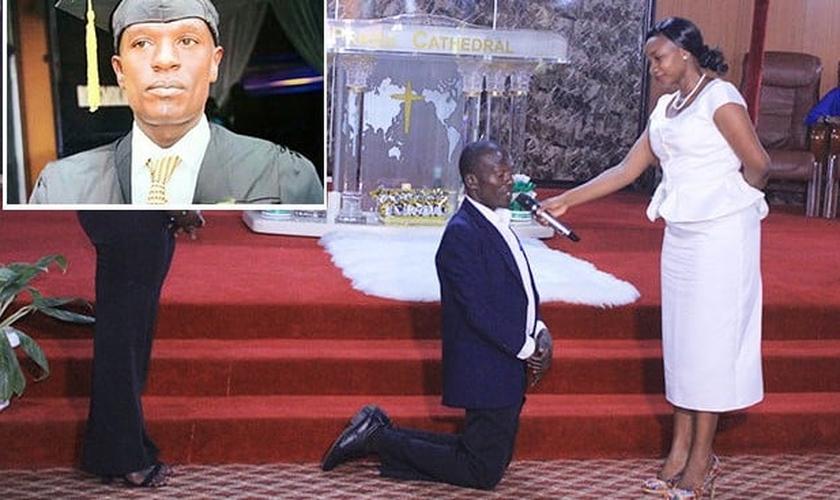 Godfrey Nsamba é libertado após ser sequestrado por duas semanas. (Foto: Reprodução/UGCN)