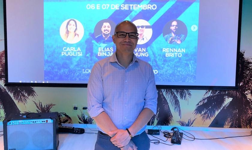 """Ivan Chung em vista ao Brasil para participar da """"Conferência 3R – O Nosso legado"""", em São Paulo. (Foto: Adriana Bernardo/Guiame)"""