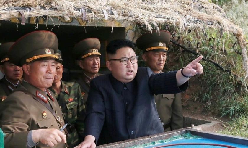 Ditador norte-coreano Kim Jong-un. (Foto: Reprodução/BP News)