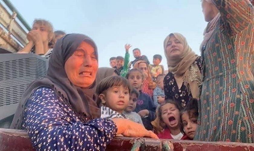 Cristãos fogem dos conflitos na Síria. (Foto: Reprodução/The Ortodox Church)