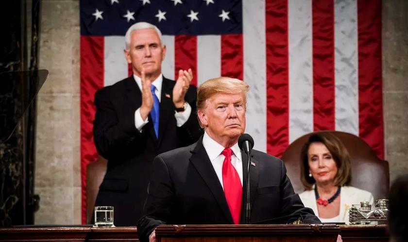 O presidente americano Donald Trump. (Foto: Reprodução/Getty)