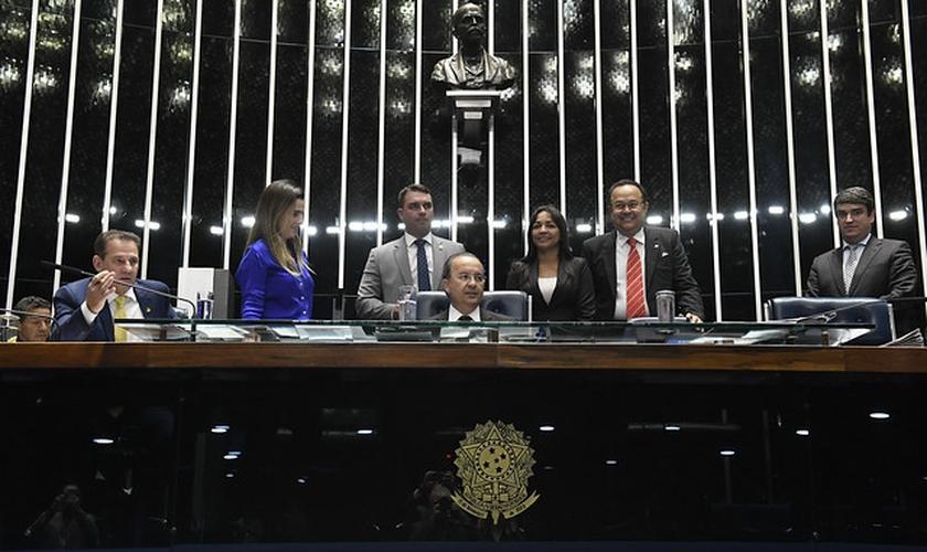 Plenário do Senado Federal durante sessão que prorrogou a isenção do ICMS para igrejas. (Foto: Roque de Sá/Agência Senado)