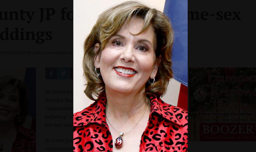 A juíza de paz Dianne Hensley. (Foto: Reprodução/CBN News)